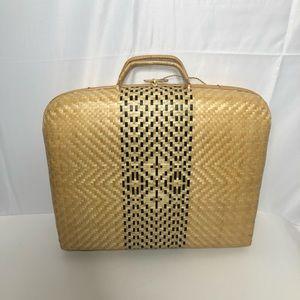 Vintage Straw Home Decor Briefcase